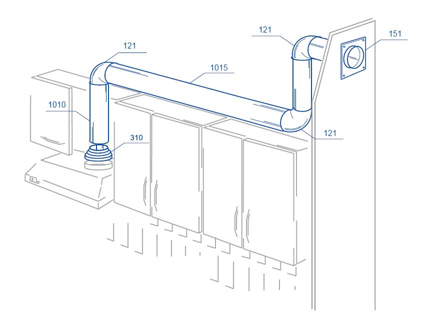 Воздуховоды для кухонной вытяжки своими руками